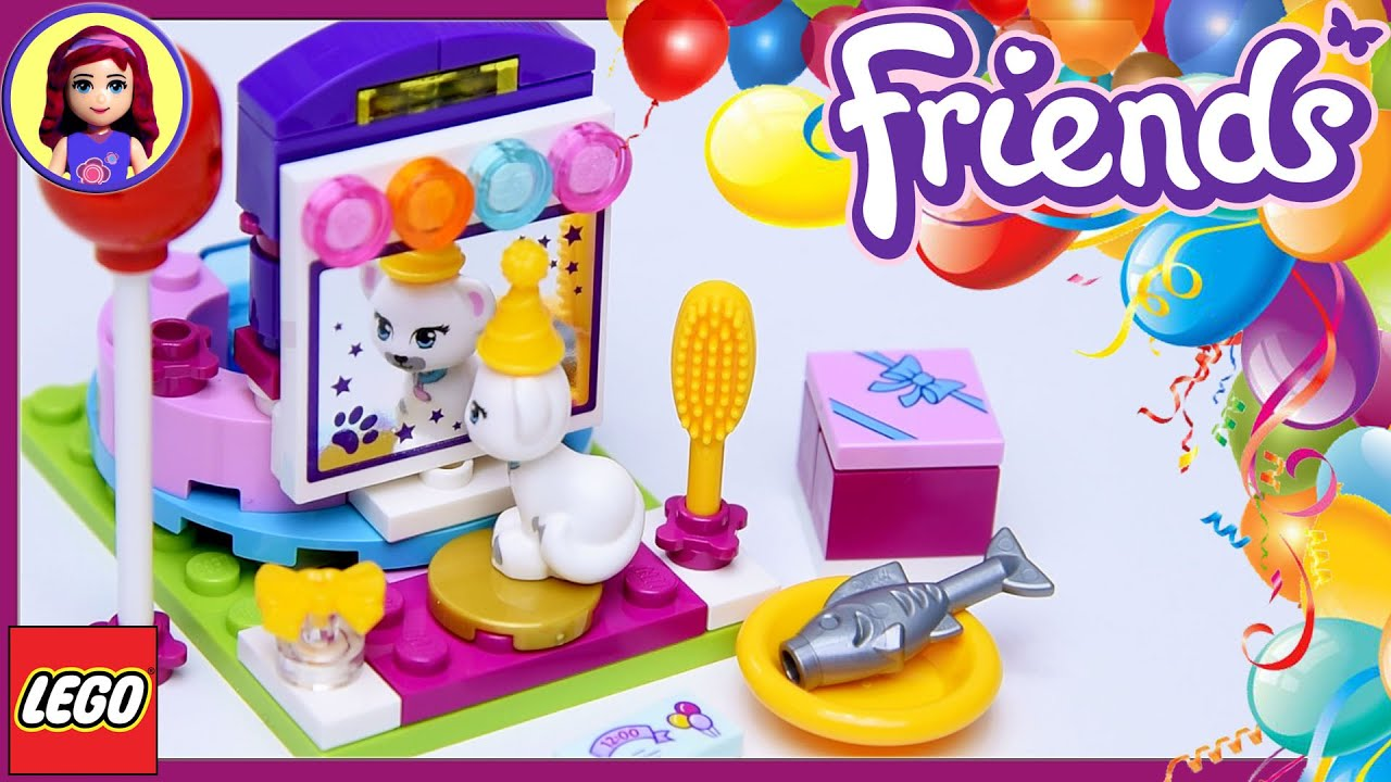 Lego Friends Party Styling with Millie - Jewel the Cat Build Review ...