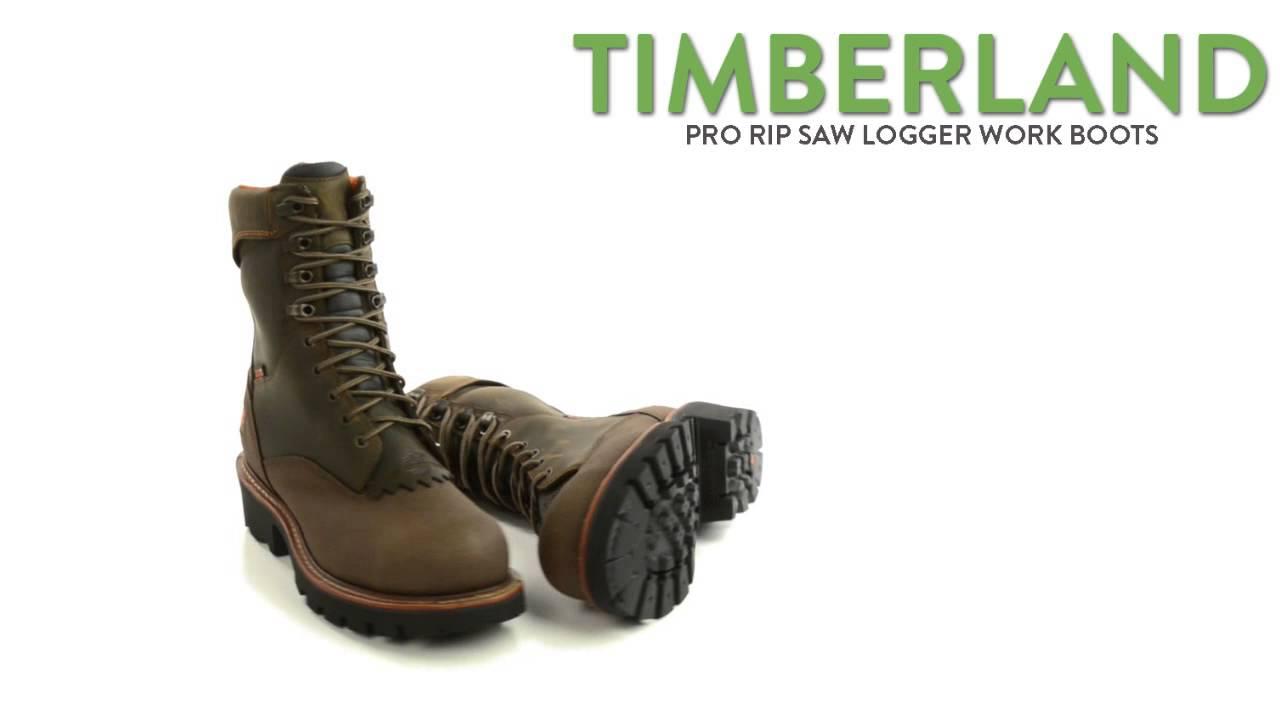 c78b321226c8 Timberland Pro Rip Saw Logger Work Boots - Steel Toe