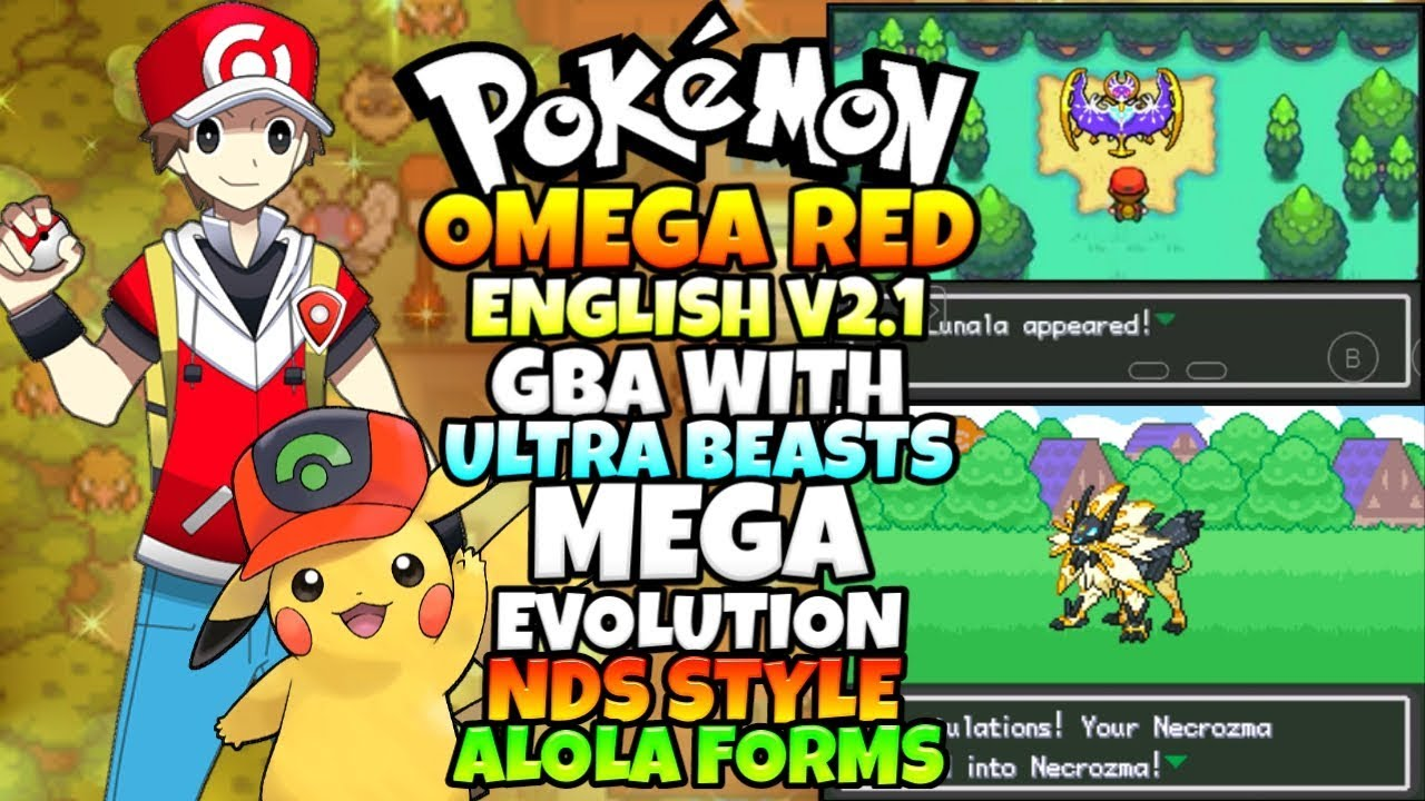 Pokemon Omega Red English v2 3 Gba With Ultra Beasts,NDS Sprites,Mega  Evolution,Alola Forms,Gen7