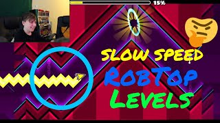 SLOW SPEED ROBTOP LEVELS + SILENT CIRCLES AND MORE! - ChrisCredible Attempts   (Man's Not Hot)