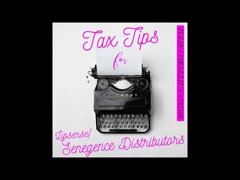 Tax Tips for LipSense Senegence Distributors with Julie #192508