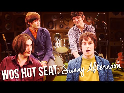 The cast of Sunny Afternoon in the WOS Hot Seat