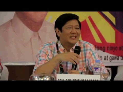 Sen Bongbong Marcos   Q & A Meet and greet with BBM supporters at Great Eastern Hotel, Quezon City