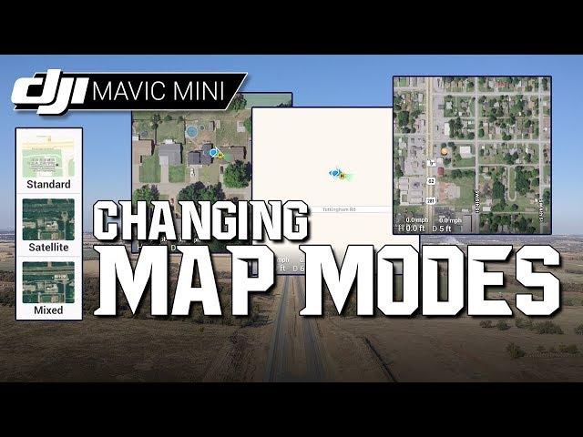 DJI Mavic Mini / Changing MAP MODES! (Tutorial)