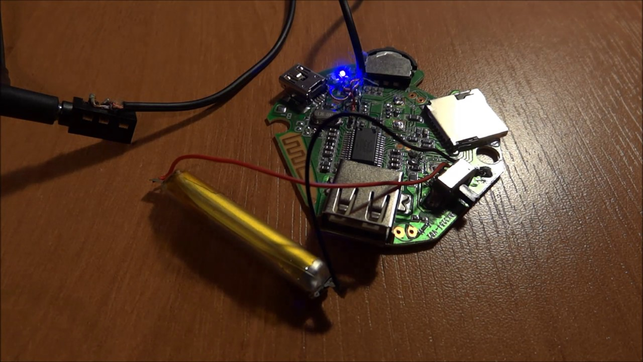 Hacking cheap Bluetooth speaker into stereo Bluetooth receiver with MP9  player