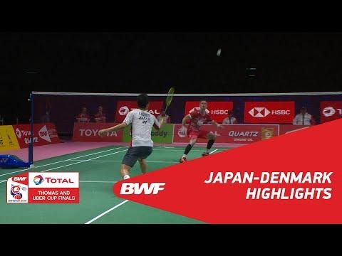 TOTAL BWF Thomas & Uber Cup Finals 2018 | Japan vs Denmark SF | Highlights | BWF 2018