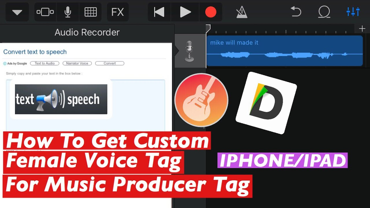 How To Get Custom Female Voice Tag For Music Producer Tag