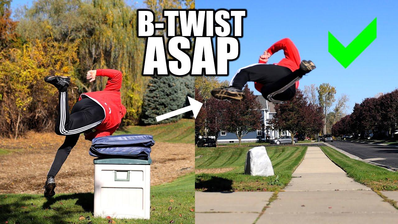 Learn How to Spin Sideways in Air (B-Twist) ASAP – Backyard Hack