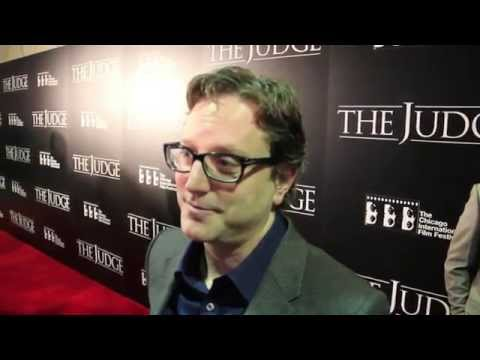Robert Downey Jr and director David Dobkin at the Chicago premiere of 'The Judge'