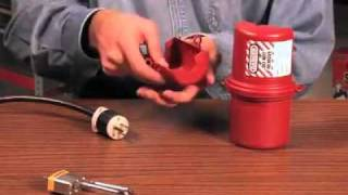 Masterlock rotating large electrical plug lockout