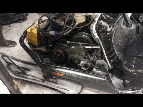 Снегоход тайга с двигателем от Оки 2 серия Доработка и первый выезд