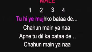 chahun main ya na karaoke(Aashiqui 2) - hindi karaoke by GMK