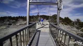 Walking Across The Mile High Swinging Bridge On Grandfather Mountain