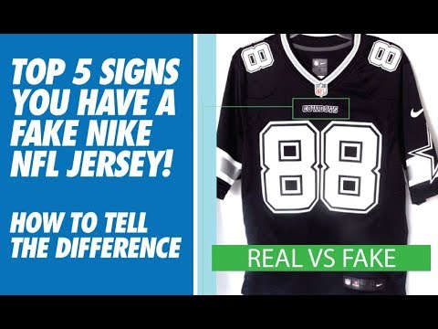 4cb7eb57974 TOP 5 SIGNS YOU HAVE A FAKE NIKE NFL JERSEY! (HOW TO TELL) - YouTube