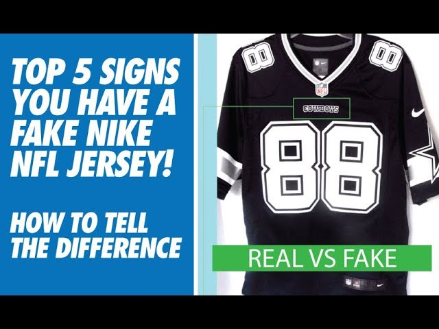 TOP 5 SIGNS YOU HAVE A FAKE NIKE NFL JERSEY! (HOW TO TELL) - YouTube
