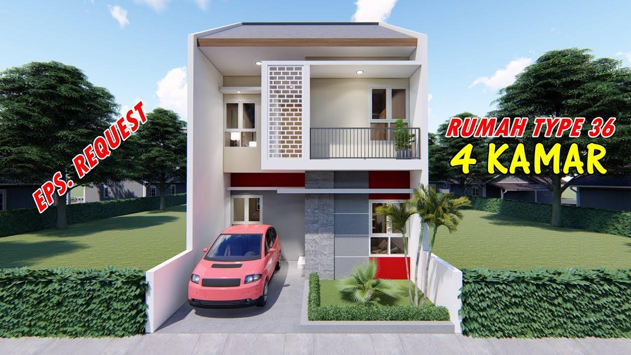 Rumah Type 36 Dua Lantai 4 Kamar Tidur Youtube