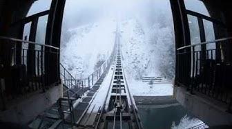 Standseilbahn 6430.02 neue Stoosbahn Bergfahrt Stoos - Funicular