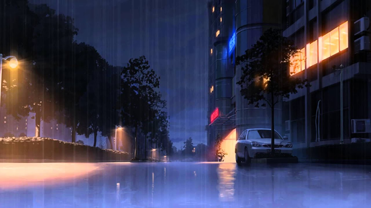 Wallpaper Of Lonely Girl In Rain Extra Relaxation Medley Rainy Street Full Of Themes And