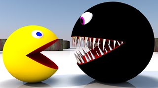 Pacman Vs Black Monster Pacman As He Finds a Pacman