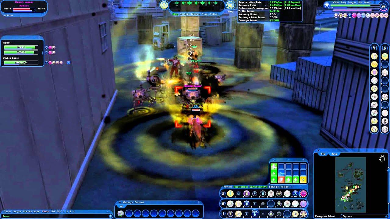 City of Heroes gameplay - Dark/Time controller vs nemesis in PI