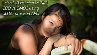 leica M9 (M-E) vs M 240 (M-P) CCD vs CMOS which is better for portraits? feat. Guam Model Genica 4K