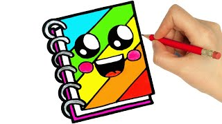 HOW TO DRAW A CUTE NOTEBOOK EASY STEP BY STEP