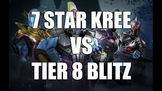 7 Star Kree vs Tier 8 Blitz (Test Center) - Marvel Strike Force