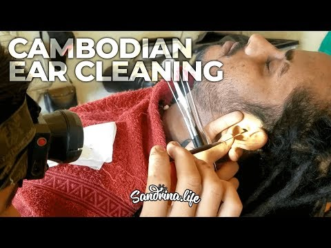 Detailed Ear Cleaning at the barbershop - ASMR real situation