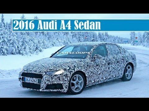 2016 Audi A4 Sedan Spied Test In Snow And Debut At Geneva Or