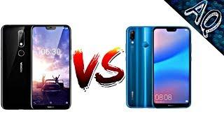 Nokia X6 vs Huawei P20 Lite  full comparison