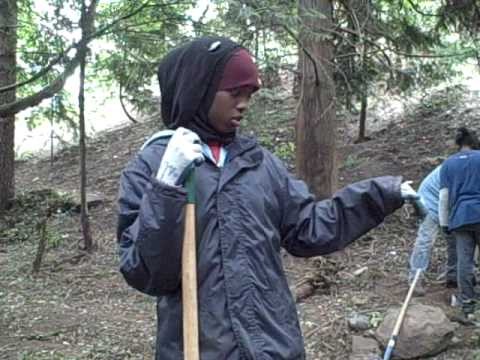 Faduma with Seattle's Community Conservation Crews