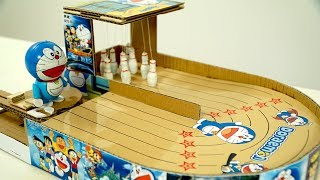 How to Make Doraemon Bowling Game from Cardboard | You Can Do at Home