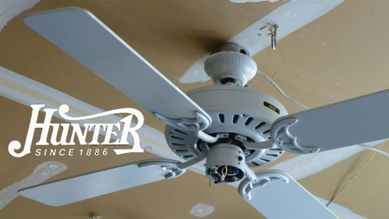 hunter summer breeze ceiling fan - youtube
