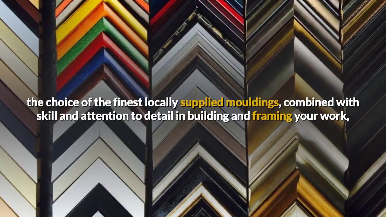 Picture framing Gold Coast | About Frames Southport - YouTube