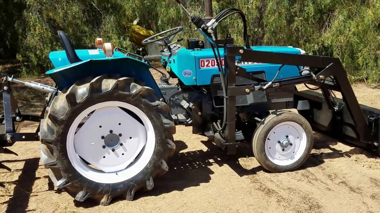 Mitsubishi Compact Tractors : Mitsubishi d used compact tractor for sale by