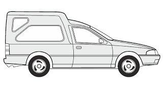 How to Draw a Nissan Sunny Van / Как нарисовать Nissan Sunny Van