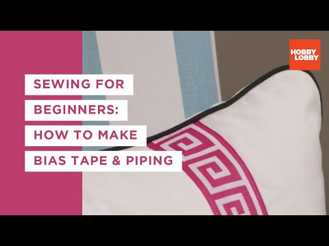 Learn to Sew: How to Make Bias Tape and Piping