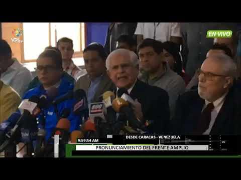 Venezuela - Frente Amplio se pronuncia en contra del evento político del 20M  - VPItv