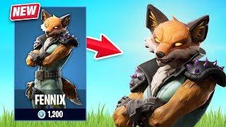 New Fennix Skin Gameplay - Fur Force Set! (Fortnite Battle Royale)