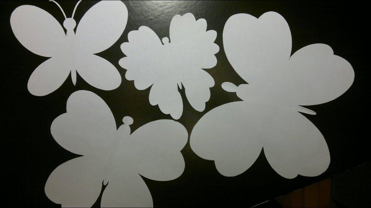 Tegn selv Sommerfugle med gratis skabeloner