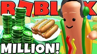 FOOD LAND HAS $$$ MILLION DOLLAR HOT DOGS - ROBLOX MINING TYCOON #23