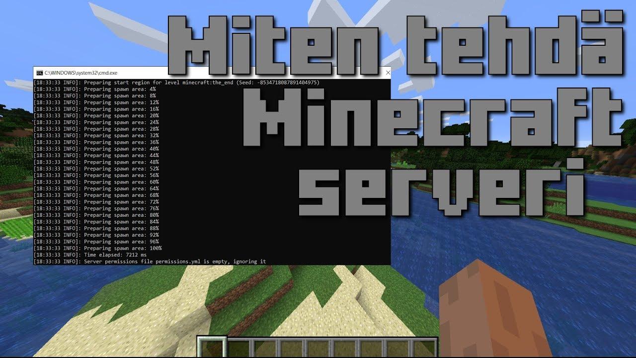 Kuinka Tehdä Minecraft Serveri
