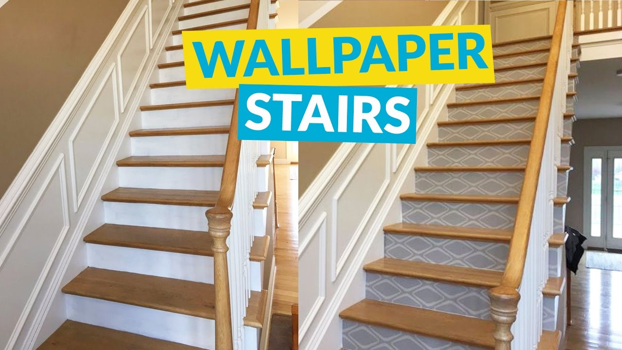 Wallpaper Stairs Youtube | Stick On Stair Treads | Step | Unique | Maple Stair | Integrated Post | Solid Weathered