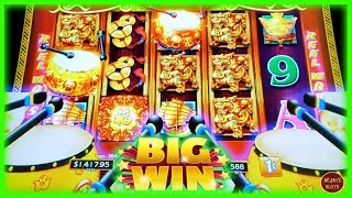 I NAILED IT BIG WIN! 1st TIME PLAYING DANCING DRUMS EXPLOSION SLOT MACHINE