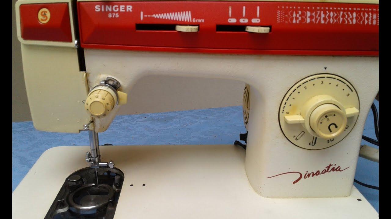 Puesta a punto maquina de coser singer Dinastia l #