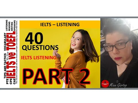 "IELTS listening  ""section 2""  -40 questions with key"