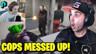 Summit1g Reacts to xQc Solo Heist Cops FAIL RP! | GTA 5 NoPixel RP