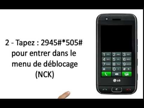Comment Debloquer telephone Portable LG GT505