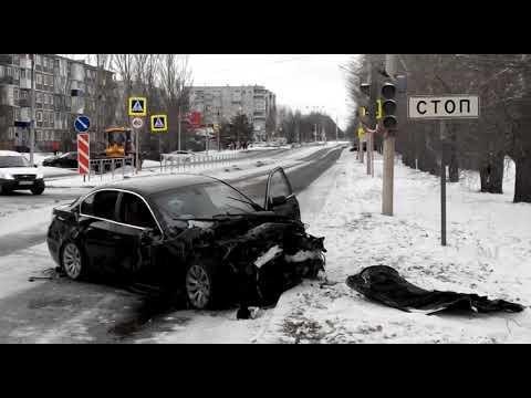 ДТП с участием BMW и автобуса в Шарыпово