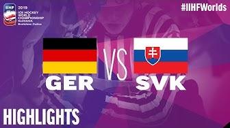 Germany vs. Slovakia - Game Highlights - #IIHFWorlds 2019
